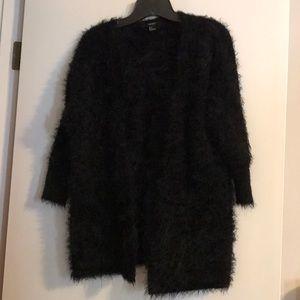 Fuzzy Black Cardigan